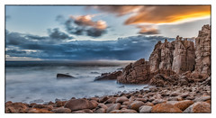 The Photographer's Wet Dream (BlueberryAsh) Tags: phillipisland thepinnacles holiday 10stopndfilter longexposure stormscloudssunsetsunrise sunset rocks ocean australia beach coast nikond750 nikon24120 cliff