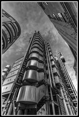 Lloyd's Building, City of London. (jim_2wilson) Tags: wideangle bw lloydsbuilding lloydsoflondon jimwilson hdr photomatixproversion505 dxoopticspro architecture london sonya99 minolta1735mmf284