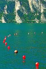 float_666 (nograz) Tags: lake lagodigarda d50 nograz red rosso floating lago