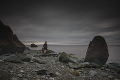 Low Tide (MartinSommer) Tags: lowtide longexposure bayoffundy newbrunswick gloom water rocks nikon seaside camping