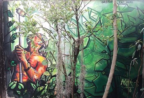 Paseos en la selva con el Dios Self _300x400_ técnica mixta junto a Alexander Bustamante en Cajicá Colombia.Feb 2016