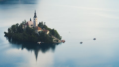 Bled (Dejan Hudoletnjak) Tags: reflections lake lakebled bled slovenia landscape panorama wideanglepanoramicview wideangleview summer dramatic vibrant isleonlake magicalplace magical magic night touristattraction relax calm holiday outdoor sky church blue