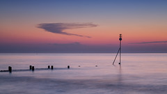 Blue Hour (mcb photography) Tags: sea sunset water norfolk hunstanton groyne cloud sky le longexposure tranquil calm peaceful glow mikebarber mcbphotography wwwmcbphotographycouk eastanglia uk england silhouette