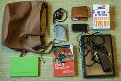 Do these still exist? (_anke_) Tags: 2016 digital primelens weekend whatsinyourbag books journal notebook diary laptop electronics bag wallet margaretatwood theyearoftheflood maddaddamtrilogy dystopia jamesscottbell plotandstructure writersdigest writegreatfiction writer novelist storytelling