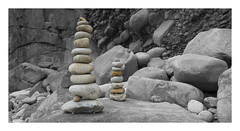 Rock Balancing (yadrad) Tags: rocks rockstack portsnanven cornwall fujixe1 andygoldsworthy beach landart