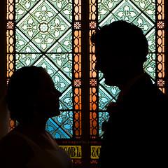 The wedding silhouette (Anna Gorin) Tags: wedding love church window beauty silhouette canon couple pennsylvania stainedglass romance 7d romantic statecollege tamron 2875mm 430ex