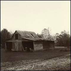 In Days Past.... (dsfdawg) Tags: old school abandoned film barn rural ga vintage georgia lens rust ruins kodak decay exploring south country rustic x historic southern waist abandon forgotten level 400 rusted plantation weathered medium format eastman tri boarded duaflex trix400 oldsouth duaflexii kodet 75mmf18 dsfotography dsfdawg