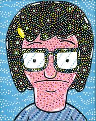 Tina Belcher (warholbot) Tags: painting acrylic burgers tina bobs