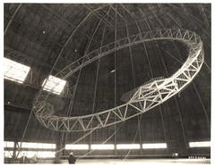 Photograph Rising the First Main Frame of a Dirigible, ca. 1933 (The U.S. National Archives) Tags: ohio aircraft aviation hangar zeppelin airship usnavy usn goodyear akron dirigible akc lighterthanair navalaviation unitedstatesnavy akronohio akronoh goodyearzeppelin kakr airshiphangar ussakron goodyearairdock usnationalarchives zrs4 dirigiblehangar akronfultonairport akronfultoninternationalairport ussakronzrs4 nara:arcid=6708589 goodyearzeppelincorporation