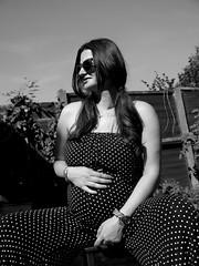 (Rewind Pleaseee) Tags: woman white black fashion vintage photo shoot pregnant polka dot vogue tok 1960 arda mehtap
