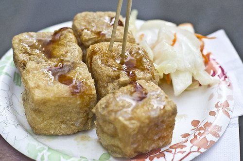 Sticky Tofu (臭豆腐) by Ruocaled, on Flickr