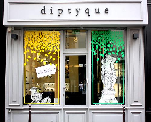 Vitrines Diptyque - Paris, juillet 2012