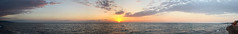 Black Sea Panorama (Levan Nioradze) Tags: sunset sea sky panorama sun black shavi achara qobuleti zgva