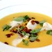 Okanagan fresh corn 'chowder' with bacon sablefish & Genovese basil paired with JoieFarm 2010 Reserve Chardonnay | JoieFarm 2010 Reserve Luncheon