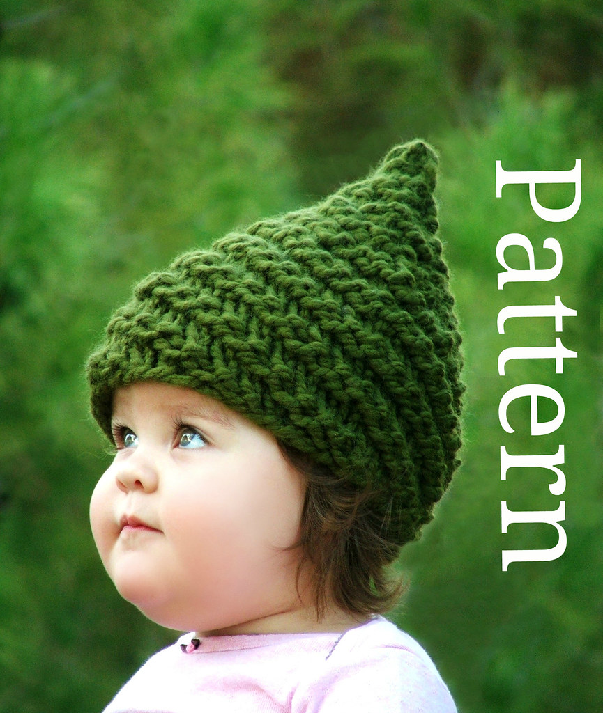 9ee0742a2ca Baby Munchkin hat knitting pattern (CreatiKnit) Tags  winter green hat  fashion fairytale forest