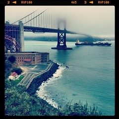 Our phototrip starts -Golden Gate bridge (Gleb Tarro - www.fotowalk.com) Tags: sanfrancisco california ca usa west fog america square coast us desert pacific goldengatebridge squareformat northamerica iphone landscapephoto iphoneography instagram instagramapp uploaded:by=instagram foursquare:venue=4fc1a86ee4b045c5b54f3ba0