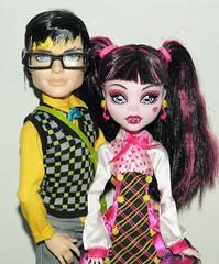 Jackson and Lala (~Ravie) Tags: dolls jackson jeckyll mattel schoolsout monsterhigh draculuara forbittenlove
