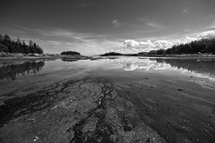 Parc du Bic 35 (gsamie) Tags: sea summer blackandwhite canada reflection nature clouds canon landscape quebec wideangle saintlaurent rimouski t3i saintlawrenceriver 600d parcdubic gsamie guillaumesamie