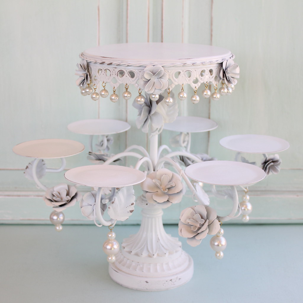 shabby chic wedding cake stand the world s best photos of cakestand and shabbychic 19769