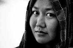 Je saurai dessiner... (Claudia Ioan) Tags: portrait woman blackwhite donna mongolia ritratto biancoenero nikond90 claudiaioan