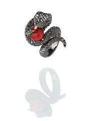 Misis Anello brunito Temptator a foggia di serpente (BAO Gioielli) Tags: jewellery eden fiori luxury paradiso madeinitaly oro gioielli argento serpente anello pendente collana bracciale smalto paradisoterrestre preziosi misis zirconi baogioielli