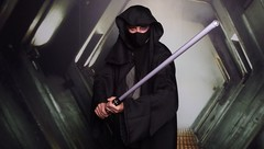 sith lord (fish lord) Tags: star photo cosplay free lord celebration cloak lightsaber wars sith vi