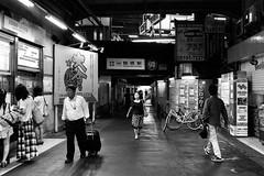 tsuruhashi, Osaka #009 (John Tayler) Tags: life street leica urban bw 35mm cityscape f14 m osaka monochrom asph summiluxm silverefexpro2 photoshopcs6