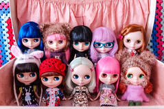 A suitcase of Blythes ~ up close