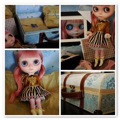 Isabella's arrival!!! (Funky Punkey) Tags: love doll blythe custom luckyme anniversarypresent humanhairreroot melacacia