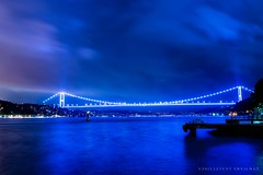 Blue Istanbul (levent_eryilmaz) Tags: bridge sea water night clouds lights nikon cityscape 28mm f18 bosporus leventeryilmaz d800e