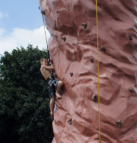Mike on the climbing wall