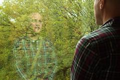 stranger in a strange land (SpatialK) Tags: trees reflection art window museum themet metropolitanmuseumofart flickrpeople 201209208179 bariskilibay