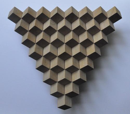 herman coppus driehoek uit kubussen