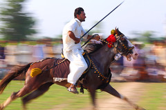 Tent Pegging Sport #2 (S M JOYIA) Tags: pakistan horses people speed interesting khanewal tentpegging soport colorsofpakistan mehershahmela