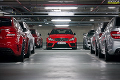 AMG Garage (Keno Zache) Tags: red black canon silver photography eos star mercedes benz power garage automotive ps racing exotic pack series rims luxury aero amg spoiler combo flaps keno sportcars explored c63 400d zache