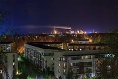 Night view (Matti Vinni) Tags: night dark landscape lights oulu kemira inti