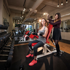 BFF's - Ashley & Kristine (Justinvl) Tags: ladies women ottawa creative kris fitness bff workingout hairstyling ashleylawrence freeformfitness
