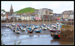 Miniature Harbour (Audrey A Jackson) Tags: houses colour church water buildings boats miniature harbour hill devon ilfracombe thegalaxy canon450 abigfave flickrstruereflectionlevel1