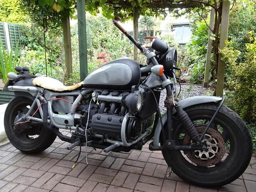 honda motorbike motorcycle rebuild valkyrie ratbike mattblack gl1500 f6c