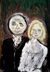 bride and groom v2 (revansj) Tags: wedding painting groom bride expressionism flickrandroidapp:filter=none
