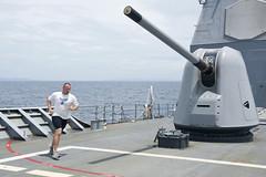 121001-N-TX154-086 (U.S. Pacific Fleet) Tags: japan sailors usnavy ras cruiser underway guidedmissilecruiser usscowpens 7thfleet unrep vertrep flightoperations forwarddeployed usscowpenscg63 phillipinesea