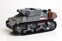 M8 GMC (Florida Shoooter) Tags: usa usmc lego ww2 howitzer m8gmc