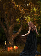 soon its Halloween (AlicePopkorn) Tags: halloween pumpkin kerzenlicht candle kerze crow raven rabe krbis
