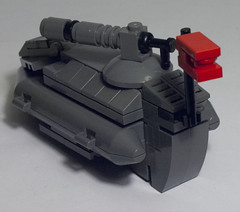 WP-9 Gator (brickmack) Tags: red grey tank lego space flag first scifi mak hover microscale maschinenkrueger