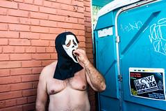 (Jack Simon) Tags: sanfrancisco mask head cigarette scream