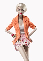 Color Me Vivid (Elle & Emma) Tags: flowers colors fashion print dress photoshoot poppy shorts darla blazer royalty parker daley