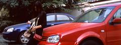 I feel the baby (The91) Tags: china portrait panorama baby color film home car 35mm singapore fuji feel wide slide hasselblad 100 positive eleanor 90mm fujichrome provia xpan changzhou wy rdp hasselbladxpan rdpiii xpani hasselblad490mmlens