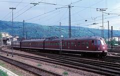 456 407  Heidelberg  08.05.77 (w. + h. brutzer) Tags: analog train germany deutschland nikon eisenbahn railway zug trains db heidelberg 456 eisenbahnen triebwagen triebzug et56 triebzge webru