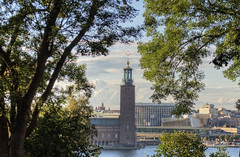 Stockholm Town Hall (neilalderney123) Tags: 2016neilhoward sweden stockholm townhall tower olympus