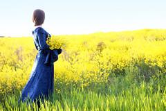 Lady on Walk (Pavlo Kuzyk) Tags: girl pretty dress field rapeseed spring nature canon ivanofrankivsk ukraine